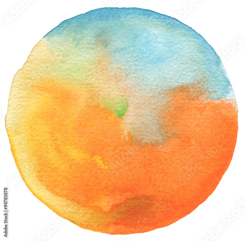 Сircle watercolor painted background. - 94783878