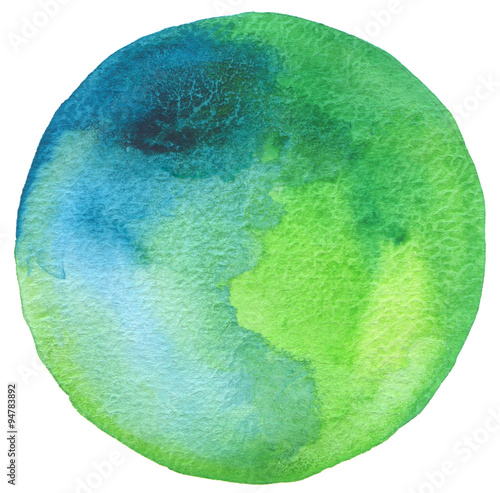 Plexiglas Geschilderde Achtergrond Сircle watercolor painted background.