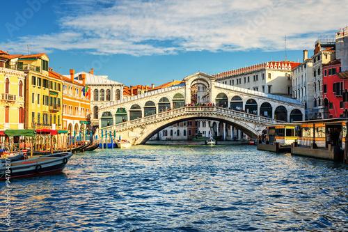 The Grand Canal and Rialto bridge, Venice, Italy - 94784217