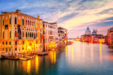 The Grand Canal and basilica Santa Maria della Salute on sunrise - Fine Art prints