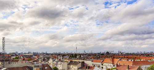 Fototapeta HDR panorama of Berlin with cloudscape