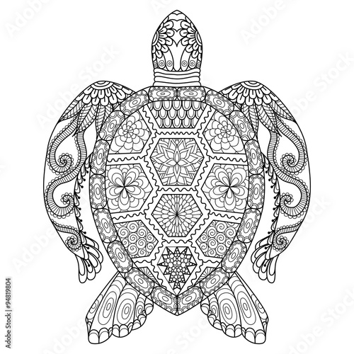 Free coloring pages of zentangle animals