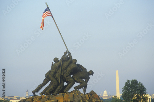 Poster Iwo Jima United States Marine Corps Memorial in Arlington, Virginia