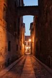 Ciasna Street by Night in Torun