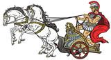 Roman Chariot Wall Sticker