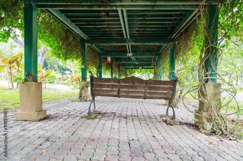 Bench in queen sirikit park bangkok thailand stock for Outdoor furniture thailand bangkok