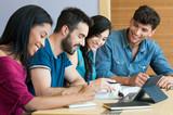 happy student studuje spolu