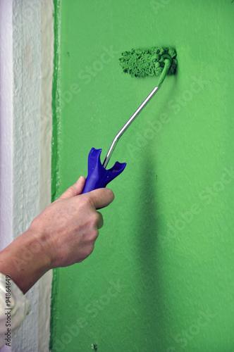 Streichen einer Wand