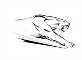 Puma. Cougar, Running cougar. attacking Cougar. Fearless Cougar. Cougar Vector Graphic. Roaring Predator. tiger. roaring fang face
