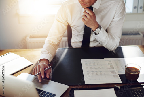 Business man working at office, Consultant lawyer concept плакат