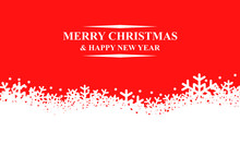 Greeting Christmas background with snowflakes