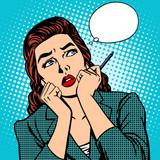 Fototapety woman thinks work businesswoman