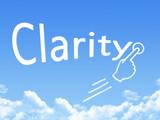 clarity message cloud shape poster