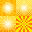 Sunray background set