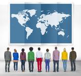 World Global Business Cartography Globalization International Co poster