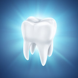Fototapety healthy white tooth