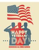 Fototapety Happy veterans day.