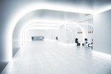 Fototapety Modern interior concept with white hall
