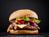 Fototapety fresh tasty burger