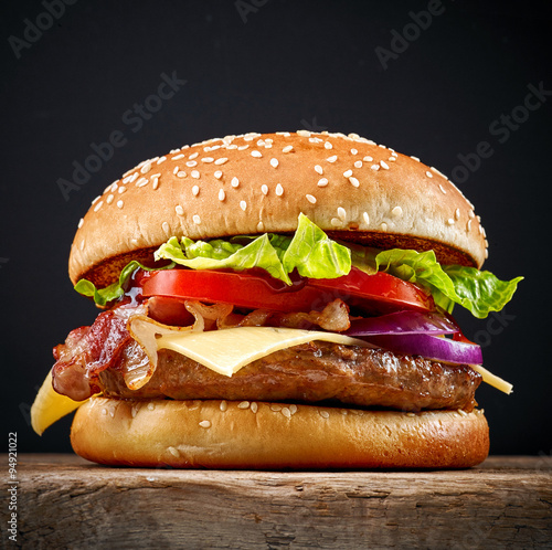 Fototapeta fresh tasty burger