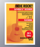 Fototapety Vector template for a concert poster  and  music party flyer