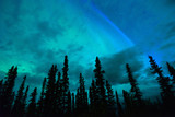 Wrangell Mountains Northern Lights Aurora Borealis Alaska Night