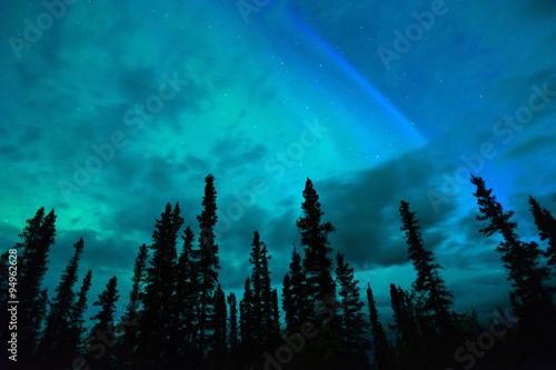 Aluminium Noorderlicht Wrangell Mountains Northern Lights Aurora Borealis Alaska Night