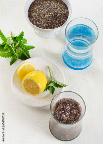 how to make lemon water with chia seeds