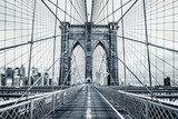 Fototapety Black and white Brooklyn Bridge