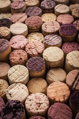 Wine corks background vertical