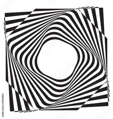 Plakat Optical illusion abstract element
