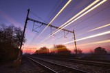 Train at the sunrise