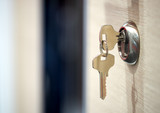 keys in the keyhole