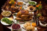 Fototapety Rustic Thankgiving Dinner