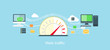 Web Traffic Internet Icon Flat Isolated