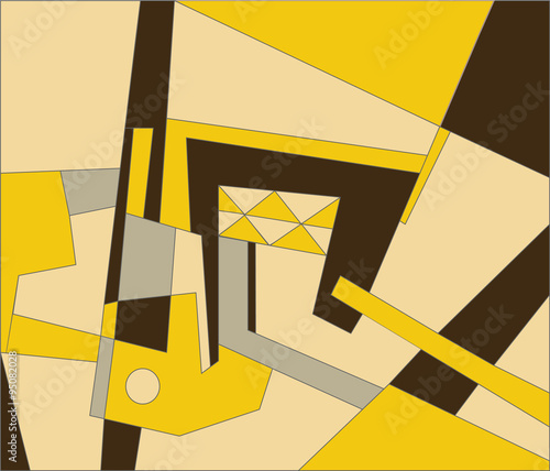 Abstract modern composition in yellow color. Vector © castecodesign