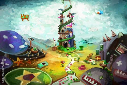Game World - Illustration for your inner child Plakát