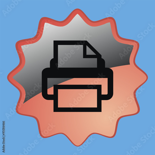 "Иконка печать"" Stock image and royalty-free vector files ...: https://eu.fotolia.com/id/95086466"