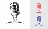 Fototapety microphone logo design vector silhouette