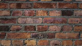 Old brick wall. Traveling vertically, from top to bottom. Animated still picture.