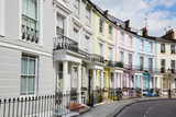 Fototapety Colorful London houses in Primrose hill, english architecture