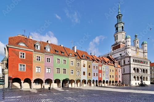 miasto-poznan,rynek,-polska,-plakat