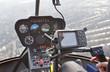 Постер, плакат: В кабине вертолета приборы управление