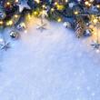 Obrazy na płótnie, fototapety, zdjęcia, fotoobrazy drukowane : Christmas background with a silver ornament, christmas stars, be