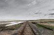 railroad perspective view in Canadian Prairies