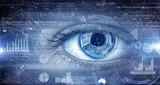 Eye scanning. Concept image. Concept image