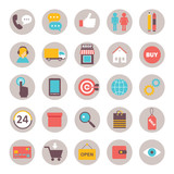 collection of flat icons for online shopping internet  infograph - 95146883