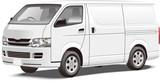 商用車イラスト ワンボックス営業車 パネルバン イラスト カラーリングベース Japanese Business Car Toyota Hiace