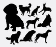 little and large dog silhouette. Good use for symbol, logo, web icon, mascot, game element, sticker, or any design you want. Easy to use.