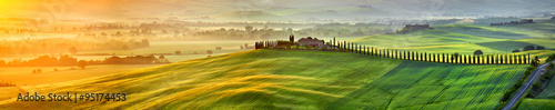 View of countryside in Tuscany  province on sunrise.  Italy - 95174453
